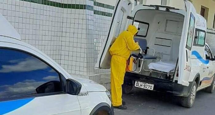 Secretaria realiza desinfecção de Hospital, Unidades de Saúde e Frota de Veículos em Anadia