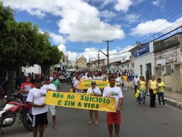 CAPS Esperança promove caminhada alusiva ao Setembro Amarelo