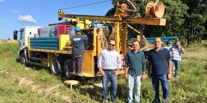 Prefeitura inicia perfuração de poços no município
