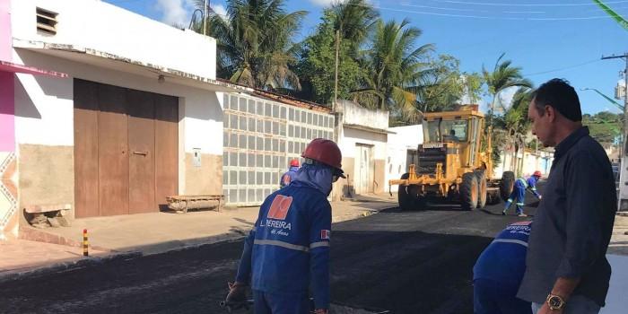 Anadia começa a receber 6km de pavimentação asfáltica do Pró-Estrada