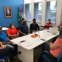 Durante reunião com secretariado, prefeito Celino Rocha discute planejamento para os próximos meses de gestão