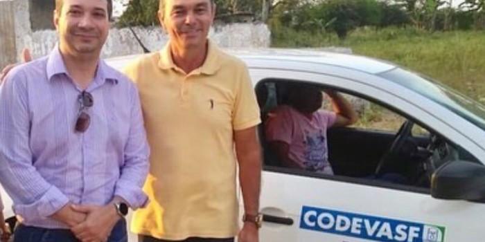 Prefeito Celino Rocha e representante da CODEVASF realizam visita técnica ao povoado Tabuleiro que receberá pavimentação asfáltica