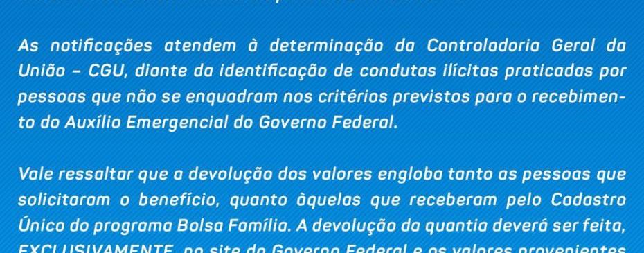 Prefeitura emite nota referente ao pagamento do auxílio emergencial a servidores públicos