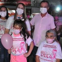 Caminhada de conscientização marca início da Campanha Outubro Rosa