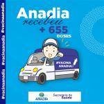 Anadia recebeu mais de 655 doses #VacinaAnadia