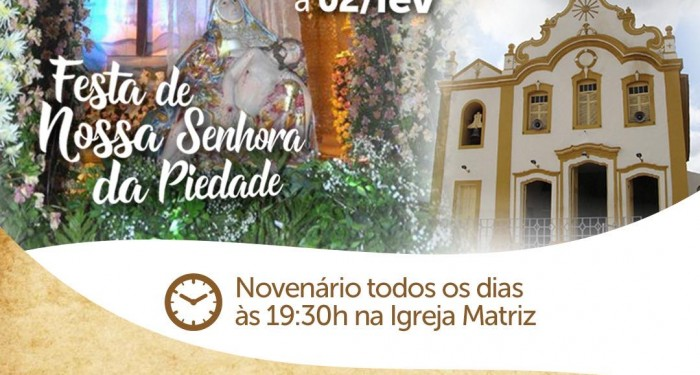Tradicional Festa da Padroeira contará com vasta programação religiosa e artística